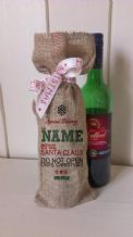 Personalized Special Delivery Wine Father Christmas Xmas Santa Sack / Stocking Bag Jute Hessian